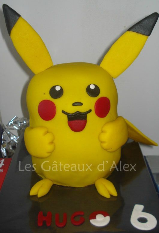g teau pok mon pikachu les gateaux d 39 alex. Black Bedroom Furniture Sets. Home Design Ideas