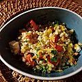 Couscous perlé aux légumes colorés