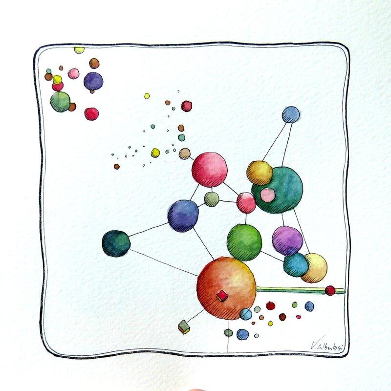 tableau peinture abstraite valerie albertosi atome boisemont paris france