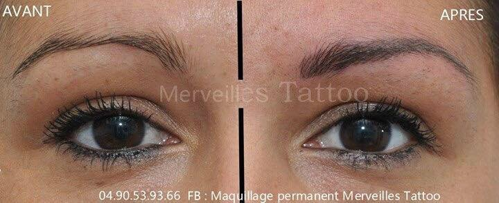 créer forme sourcils, tatouage, salon de provence, maquillage permanent