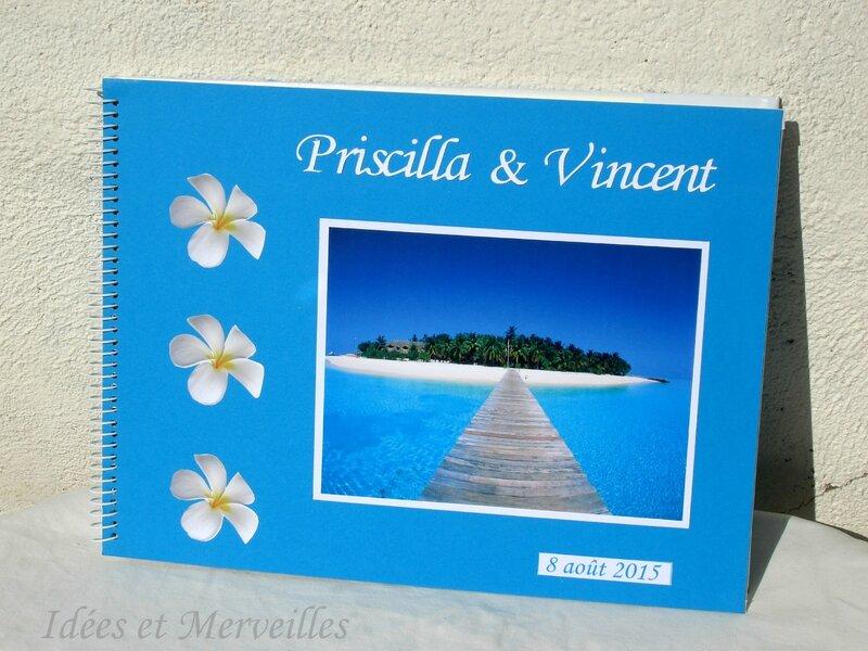 livre d'or thème iles Maldives - Idees et Merveilles1
