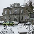 Avranches sous la neige - vendredi 18 janvier 2013