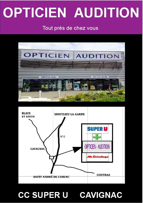 Affiche Opticien Audition