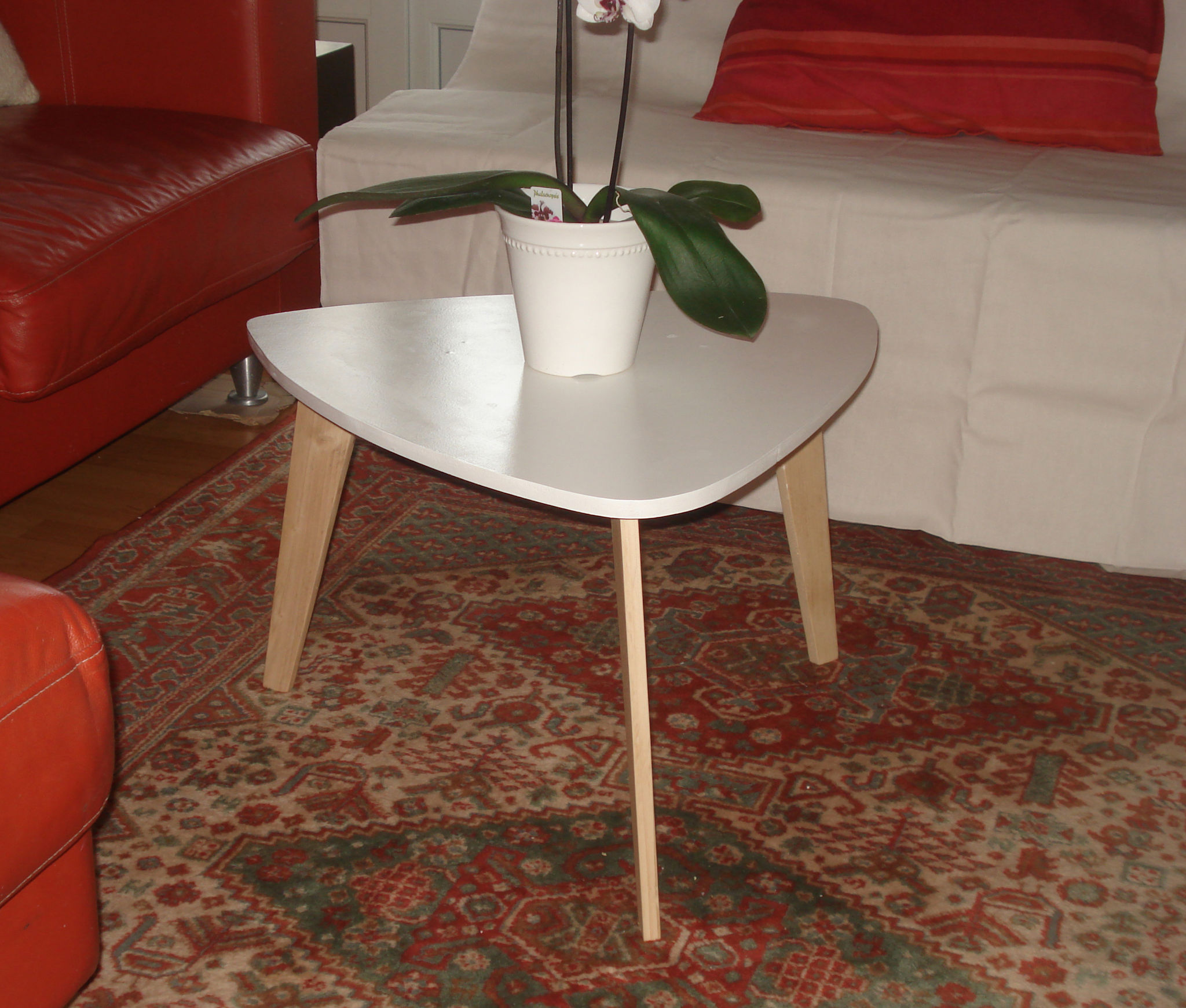 Table basse style ann es 50 le blog de b a - Fabriquer une table de salon ...