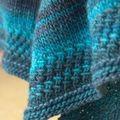textured shawl, laine monoprix