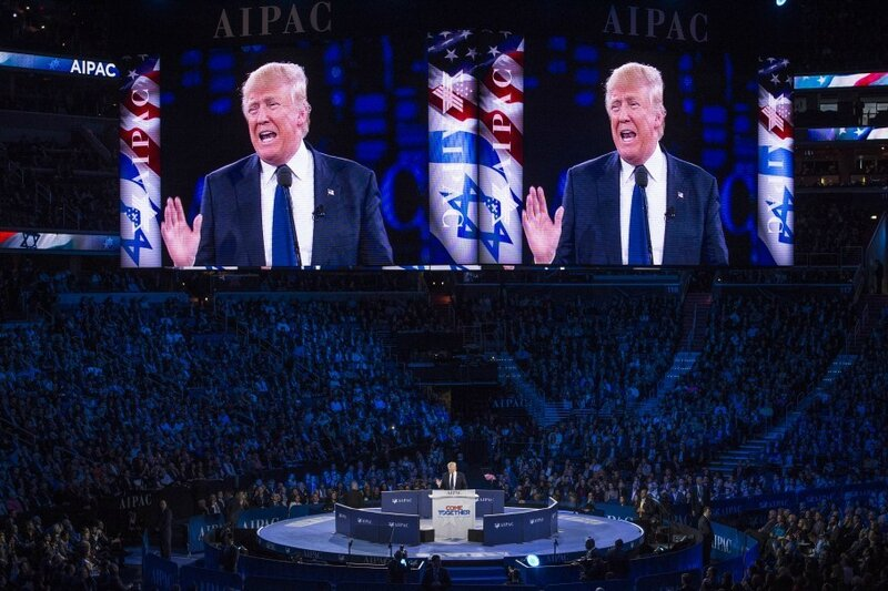 DonaldTrump speech in front of Aipac march 21 2016