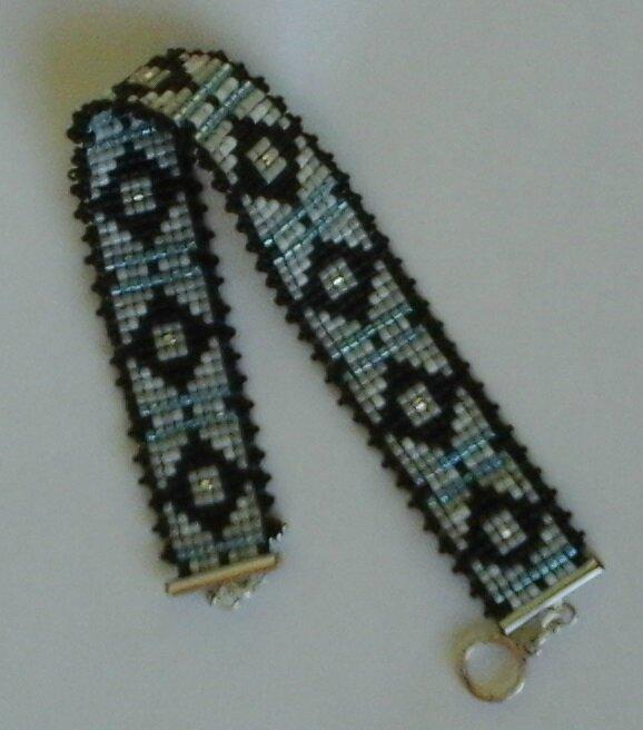 bracelet miyuki bleu