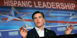 Romney at hispanics conference