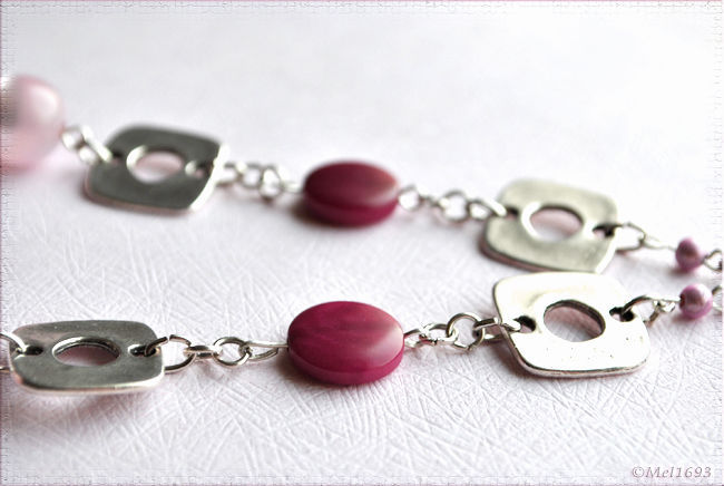 Collier printemps rose3