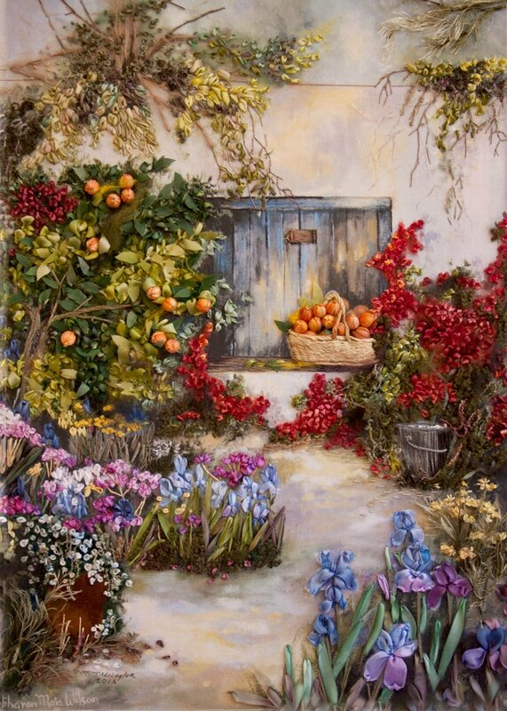 Oranges-and-Bougainvillea-embroidered-by-Emma-Kriegler-South-Africa1