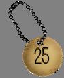 médaille de numérotation 25