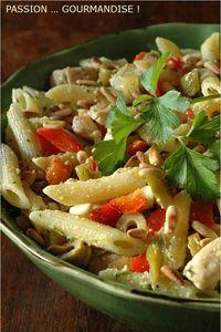Salade_penne__poulet__poivron__olive_2