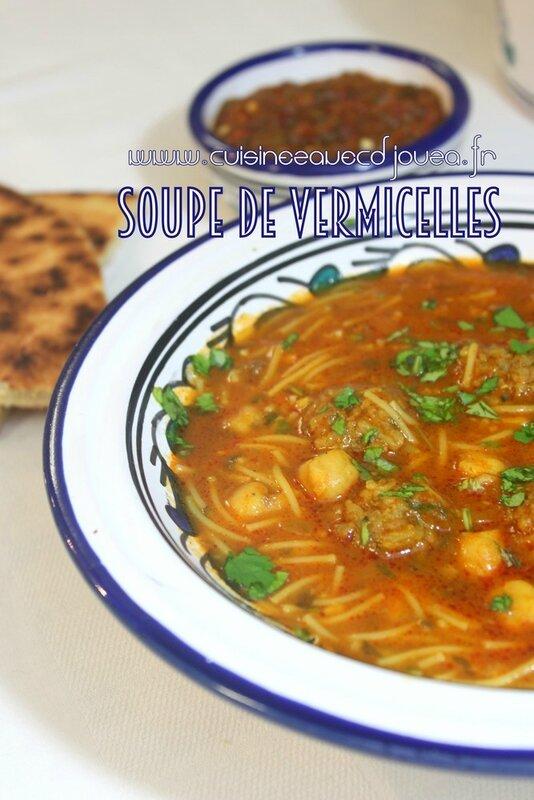 soupe de vermicelle viande hachee photo 2