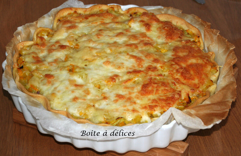 Tarte-courget-bacon-mozza
