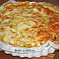 Tarte courgettes-bacon-mozzarella