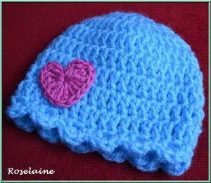 Roselaine506 Bonnet coeur