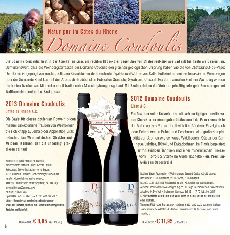 Domaine Coudoulis in Wein Musketier