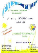 Affiche-5ème-Salon-de-créatrices-de-broderie-Fils-en-folie-2017-Sauzé-Vaussais