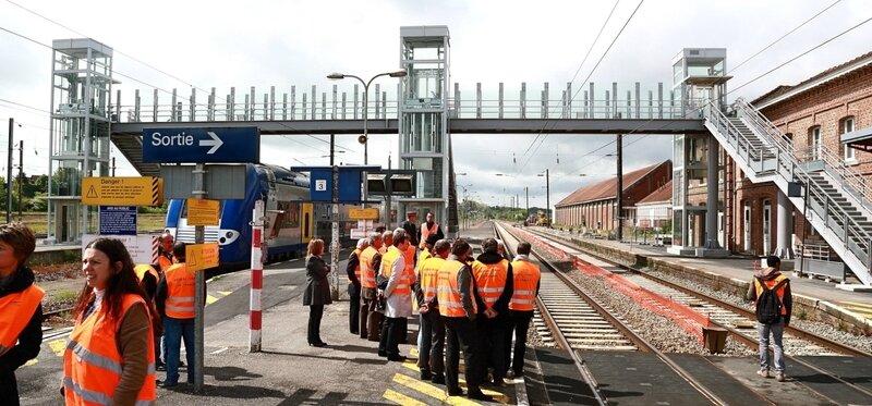 SNCF HIRSON VISITE CONSEIL REGIONAL DANIEL BEURDELEY nouvelle passerelle