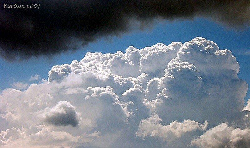 Contraste de nuages, après l'orage ...