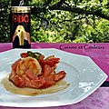 Gambas au jus caramlis  l'OBO et pamplemousse