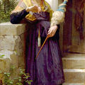 La fileuse de William Bouguereau
