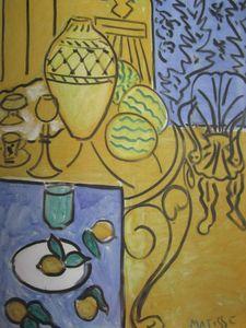Intérieur jaune et bleu 1946