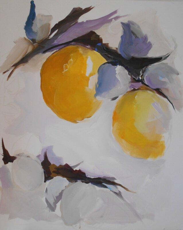 citrons en mauve