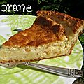 Gâteau fromage blanc et orange