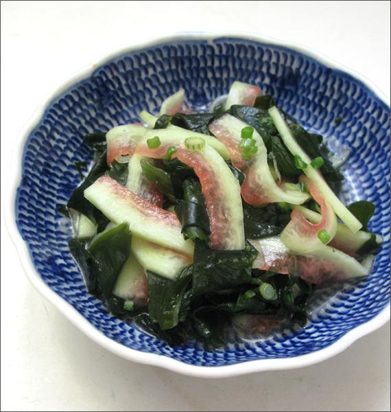salade peau pasteque algue