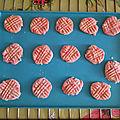 Cookies aux pralines roses, sans gluten, sans lait