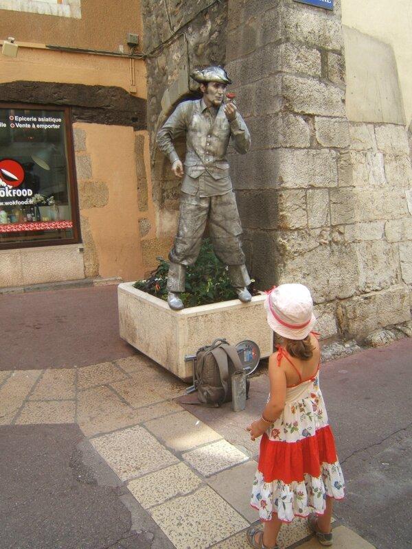 La petite fille et le mime