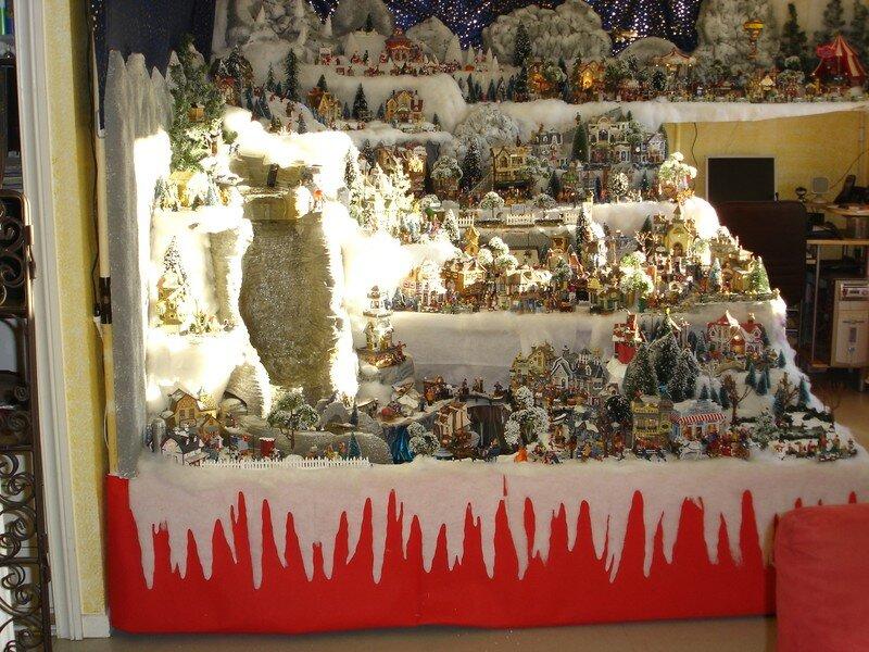 Decoration de noel village miniature - Decor village noel miniature ...