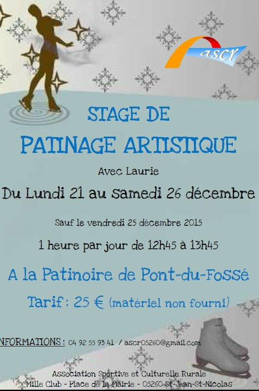 stage patinoire