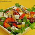 Salade de fèves et feta au citron confit
