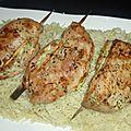 Riz indien brun / poulet aux herbes