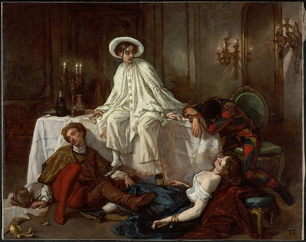 Souper à la maison d'or Thomas Couture 1855