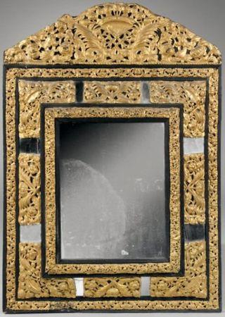 Hollande xviie si cle miroir dans un double encadrement for Miroir dans l art