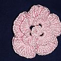 fleurs au crochet blanc rose violet 3