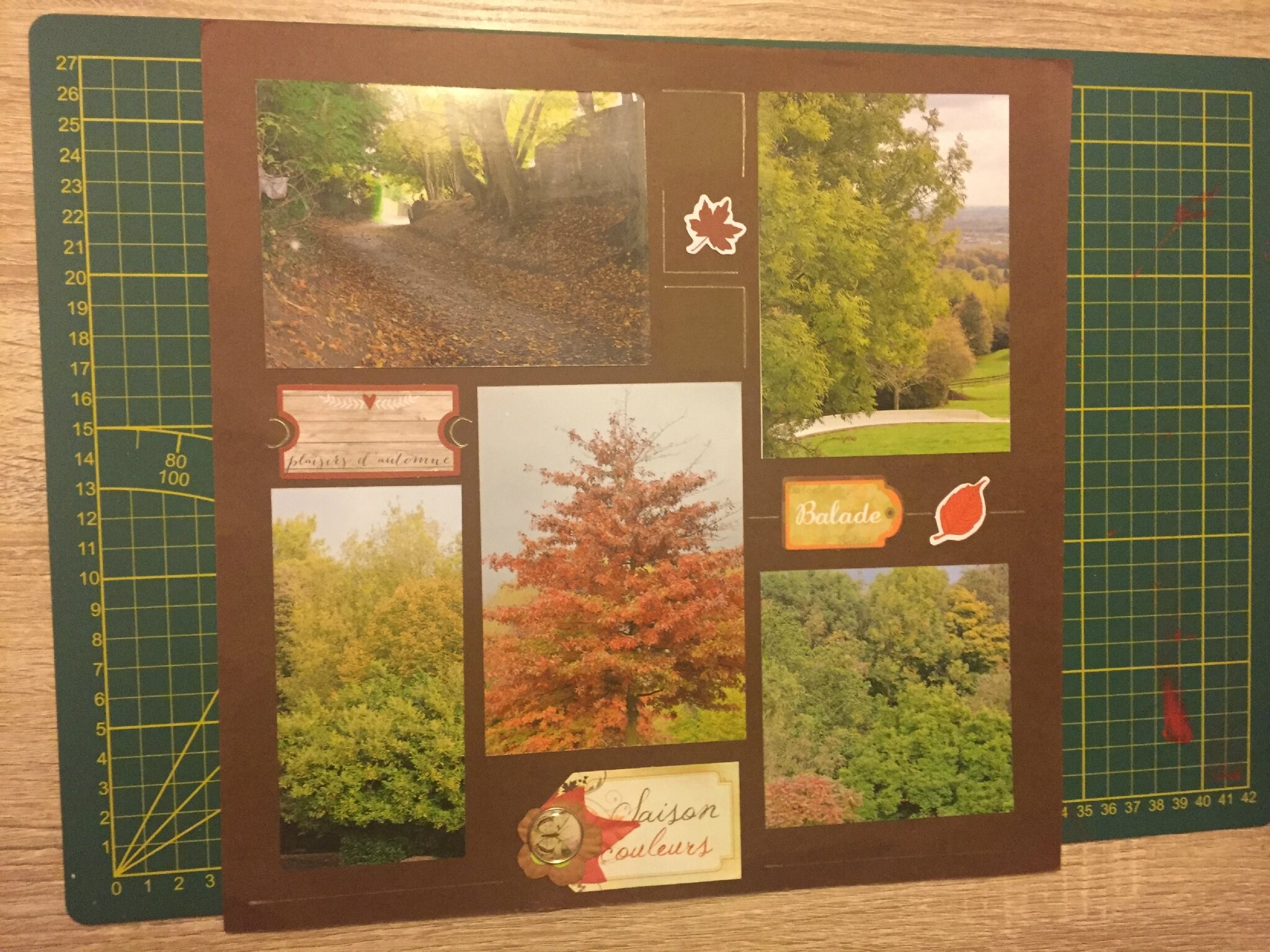 Scrapbooking : Page automnale