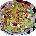 Salade de ravioles frites