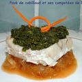 Pav de cabillaud et ses compotes de lgumes