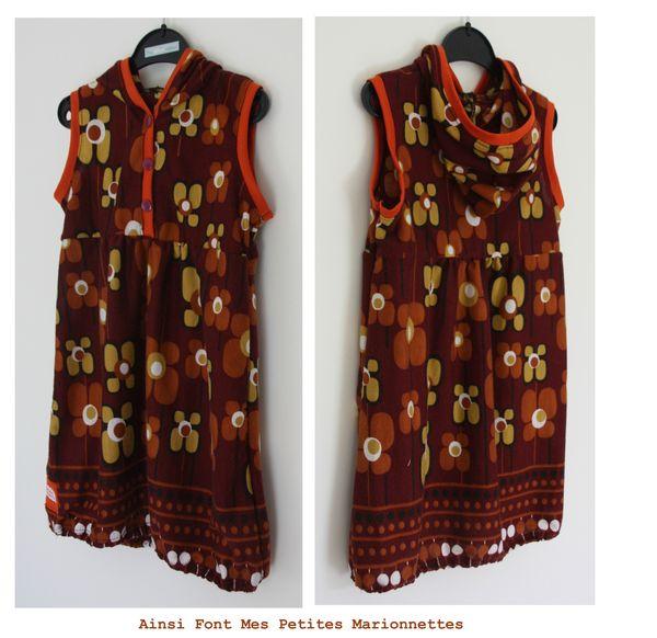robe capuche grosse fleur maelenn 4