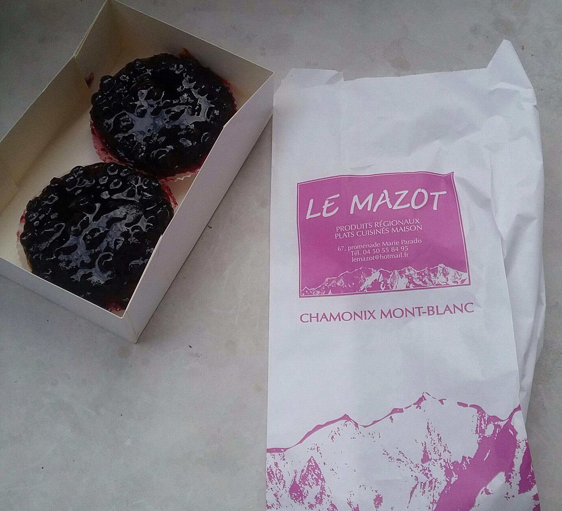Tarte aux myrtilles de Chamonix !