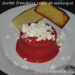 sorbet framboise coeur meringue