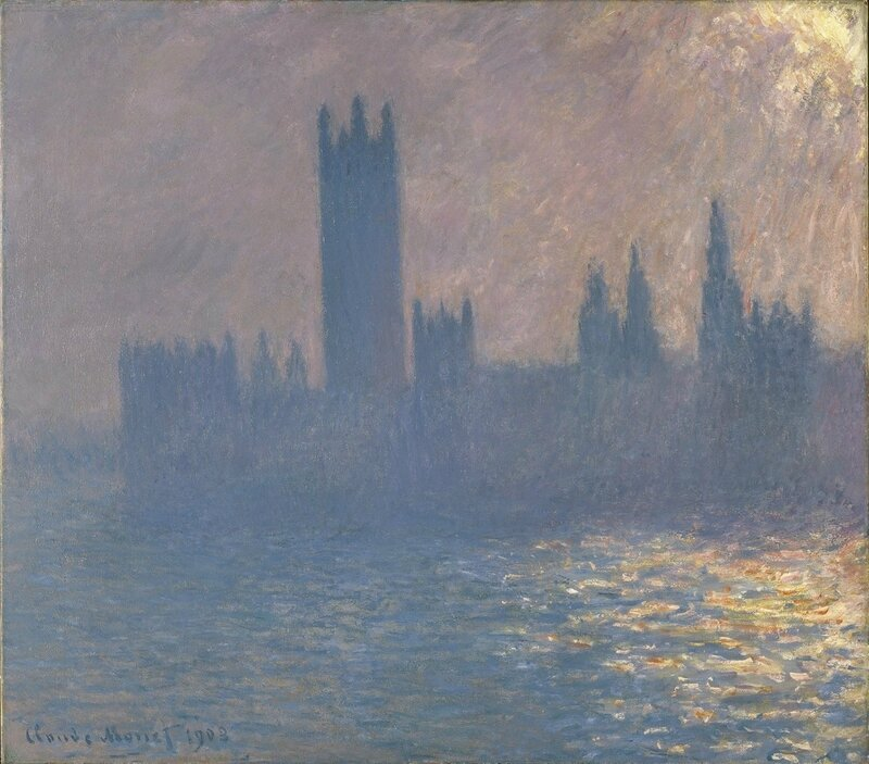 Claude Monet, Houses of Parliament, Sunlight Effect 1903 (Brooklyn Museum of Art)