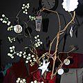 branches décorées de décorations de A little Market