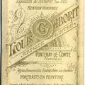Verso de photo artisanale, fontenay-le-comte,
