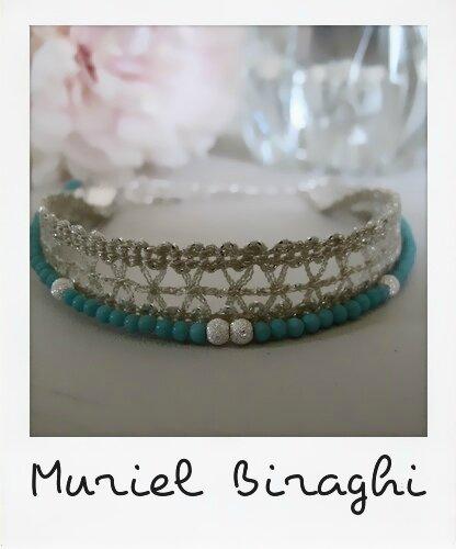 Bracelet dentelle stones
