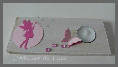 Centre de table bapteme fee papillon l 39 atelier de lulu - Centre de table bapteme ...